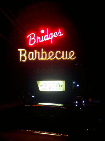 Bridges Barbecue Sign