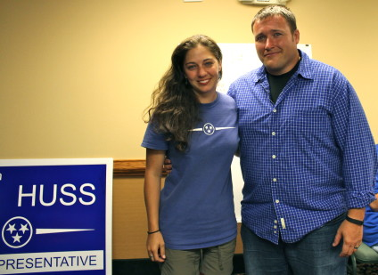 "Republican James ""Micah"" Van Huss and his wife"