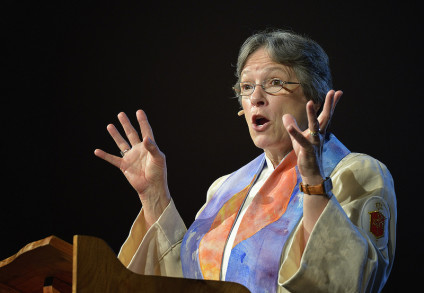 Bishop Kiesey preaches at United Methodist General Conference Bishop Deborah Lieder Kiesey preaches on May 3 at the 2012 United Methodist General Conference in Tampa, Florida. A UMNS photo by Paul Jeffrey.