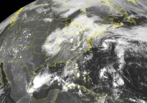 Satellite Image of tropical depression off Cape Hatteras
